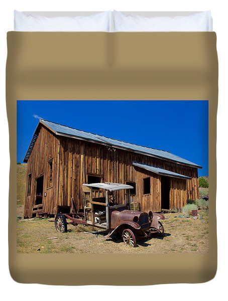 Duvet Cover featuring the photograph Mining Relic by Todd Kreuter