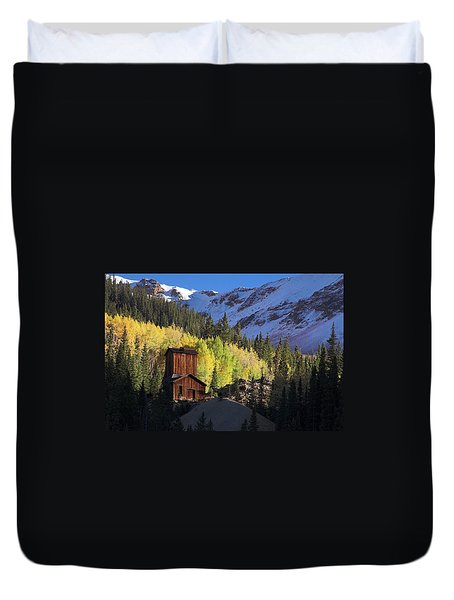 Duvet Cover featuring the photograph Mining Ruins by Steve Stuller