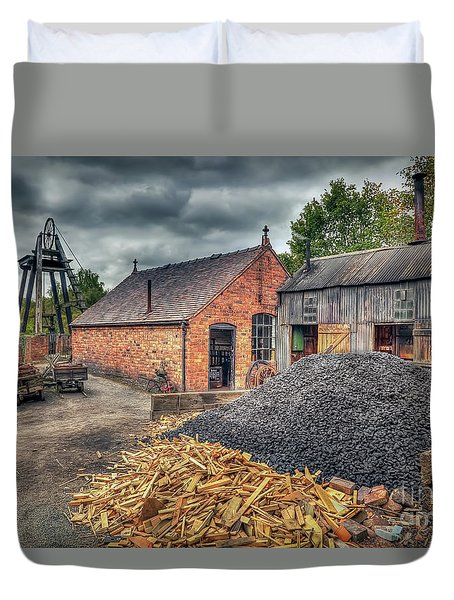 Duvet Cover featuring the photograph Mining Village by Adrian Evans