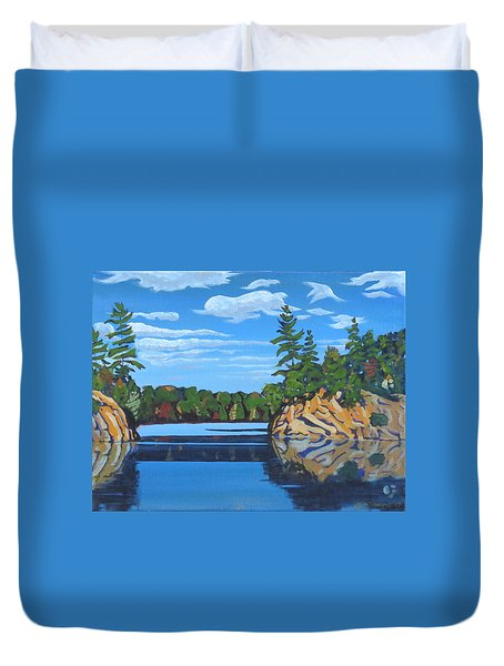 Mink Lake Gap Duvet Cover