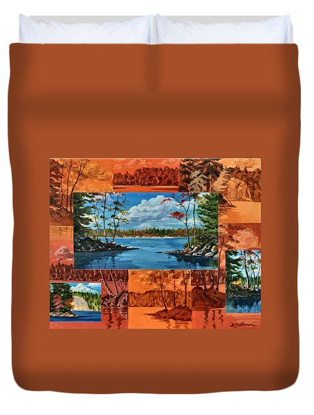 Mink Lake Looking North West Duvet Cover
