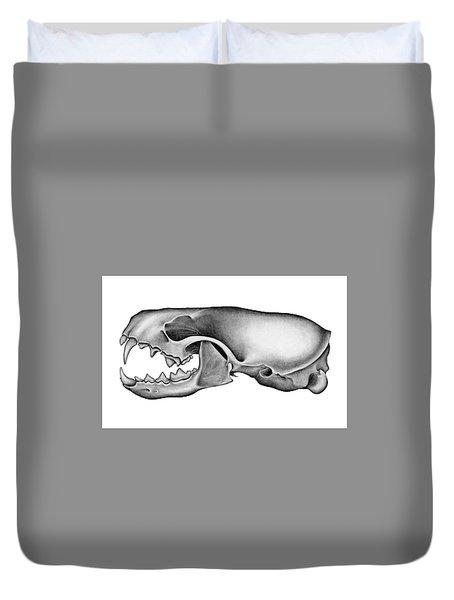 Mink Skull Duvet Cover