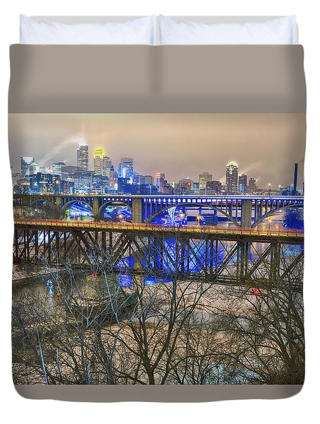 Minneapolis Bridges Duvet Cover