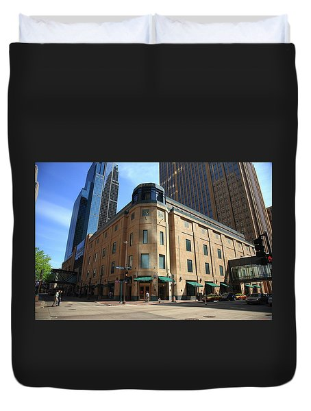 Duvet Cover featuring the photograph Minneapolis Downtown by Frank Romeo