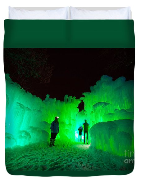 Ice Castles Of Minnesota Duvet Cover