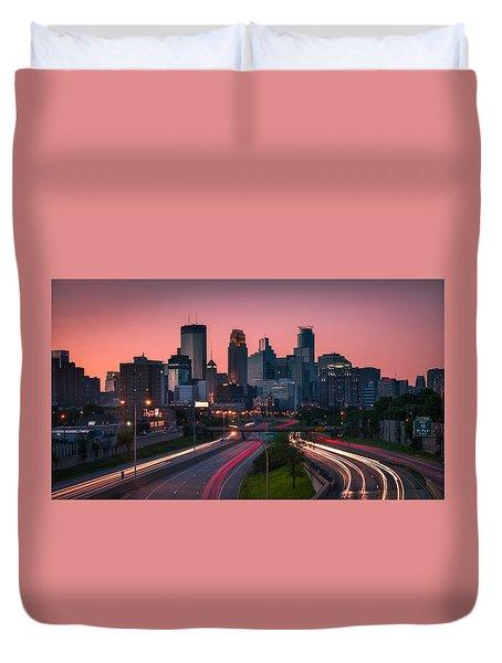 Minneapolis In Motion Duvet Cover