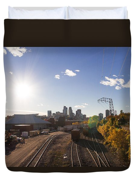 Minneapolis In The Fall Duvet Cover