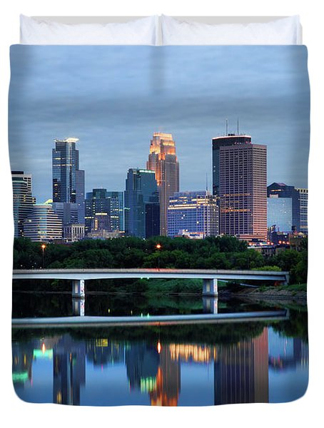 Minneapolis Reflections Duvet Cover