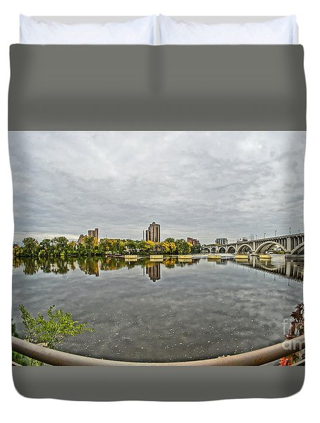 Minneapolis Shoreline Duvet Cover