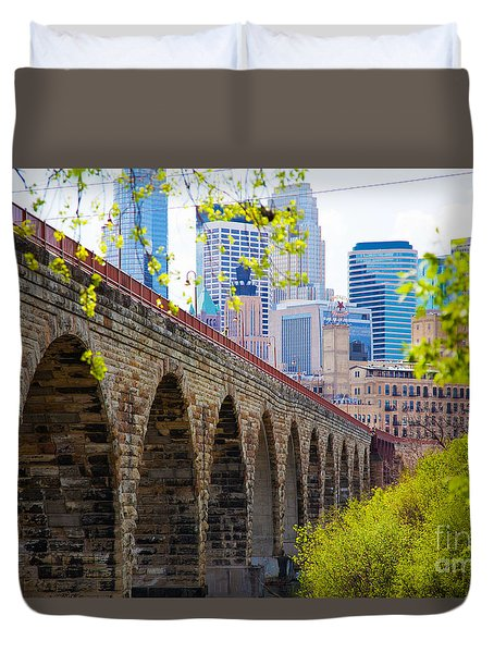 Minneapolis Stone Arch Bridge Photography Seminar Duvet Cover