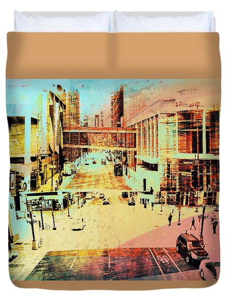 Minneapolis Streets 2 Duvet Cover
