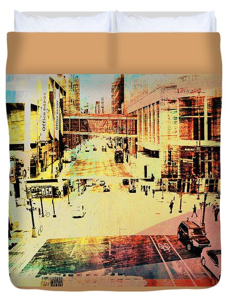 Minneapolis Streets 3 Duvet Cover