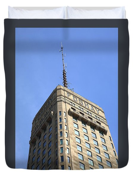 Duvet Cover featuring the photograph Minneapolis Tower 6 by Frank Romeo