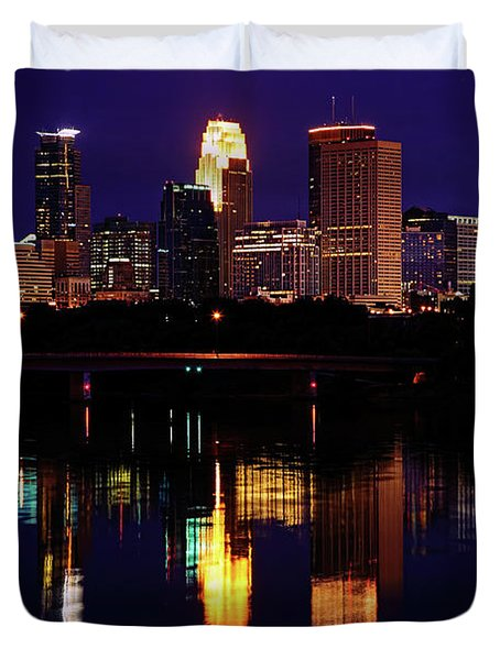 Minneapolis Twilight Duvet Cover