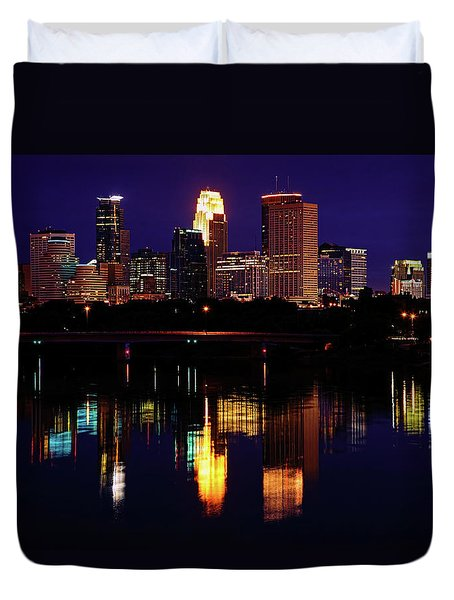 Minneapolis Twilight Duvet Cover