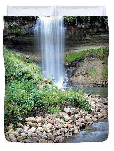 Minnehaha Falls Downstream Duvet Cover