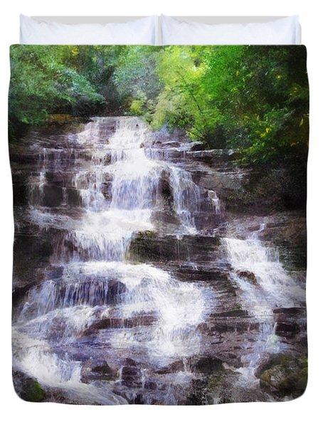 Minnehaha Falls Summer Duvet Cover by Francesa Miller