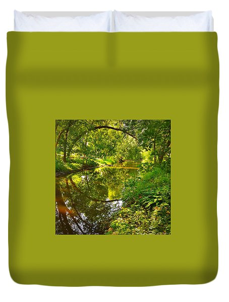 Duvet Cover featuring the photograph Minnesota Living by Lisa Piper