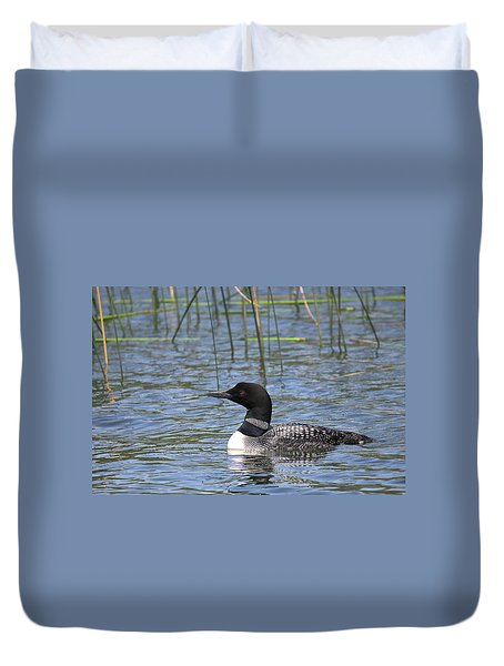 Duvet Cover featuring the photograph Minnesota State Bird by Penny Meyers