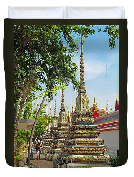 Minor Chedi At Wat Pho Duvet Cover
