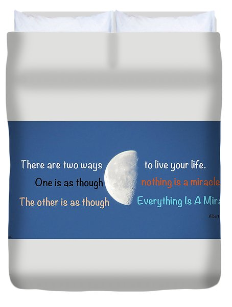 Miracles Duvet Cover by David Norman