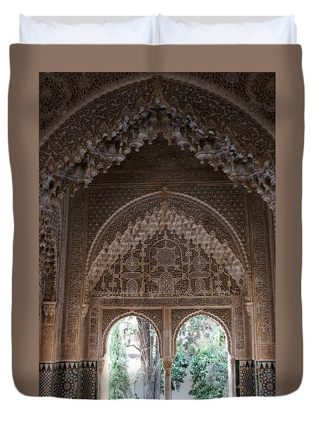 Duvet Cover featuring the photograph Mirador De Daraxa by Christian Zesewitz