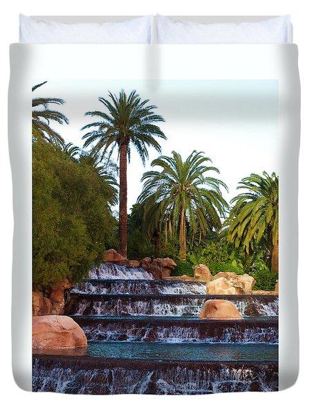 Mirage Waterfall Duvet Cover by Rae Tucker