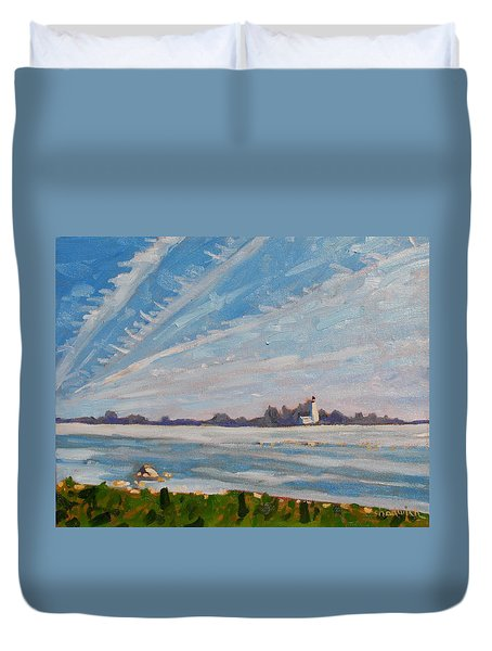 Miramachi Contrails Duvet Cover by Phil Chadwick
