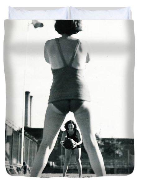 Miramar Pool, 1932 Duvet Cover