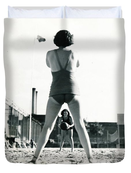 Miramar Pool, 1932 Duvet Cover