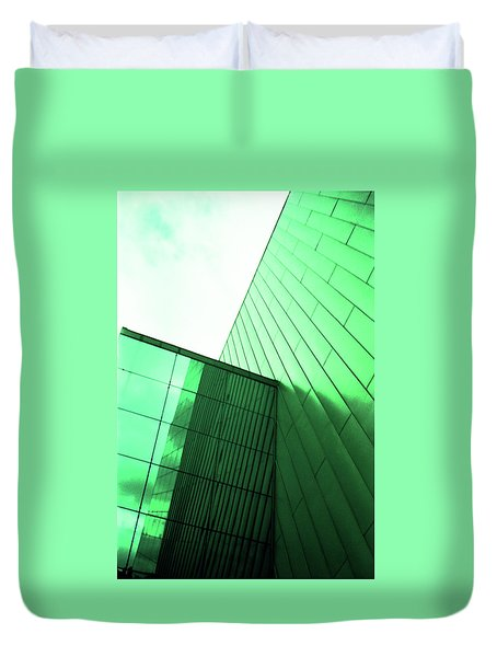 Mirror Building 2 Duvet Cover