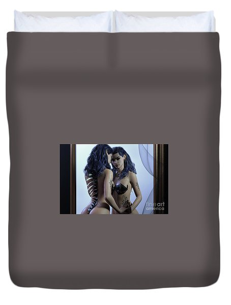 Mirror Cropped Duvet Cover