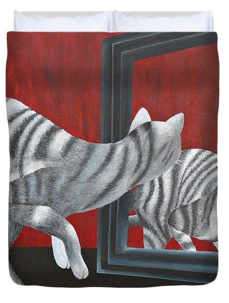 Mirror Image Duvet Cover by Jutta Maria Pusl