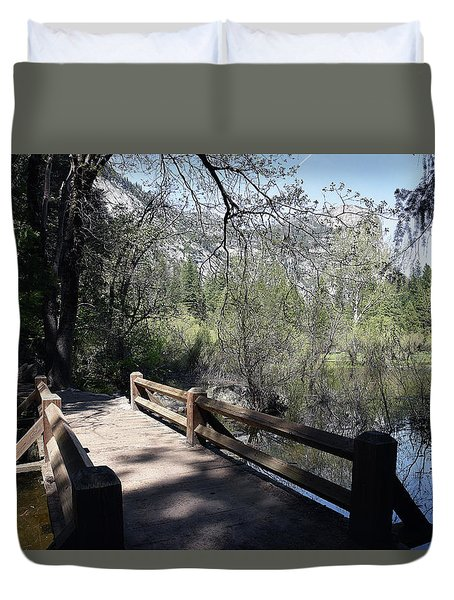 Mirror Lake At Yosemite National Park Duvet Cover