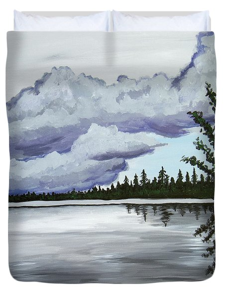 Mirror Lake Duvet Cover by Christie Nicklay