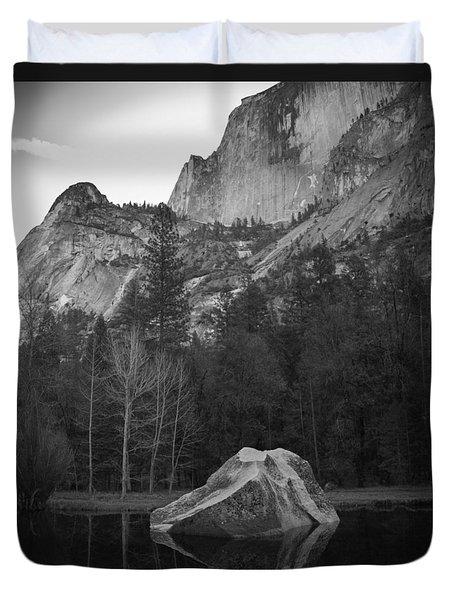 Mirror Lake Rock Duvet Cover