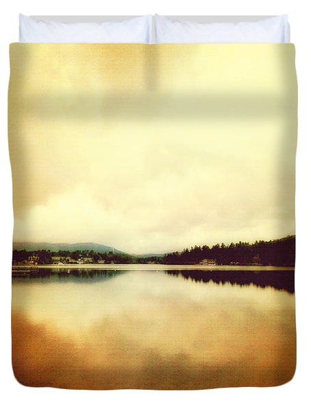 Mirror Lake At Sunset Duvet Cover