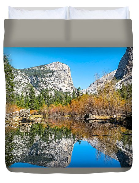 Mirror Lake Yosemite Np Duvet Cover