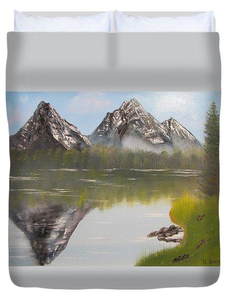Mirror Mountain Duvet Cover