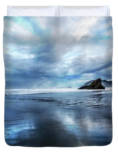 Duvet Cover featuring the photograph Mirror Of Light by Debra and Dave Vanderlaan