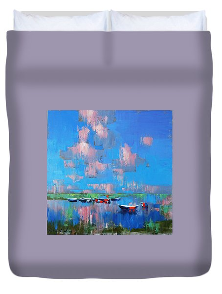 Mirror Of Water Duvet Cover