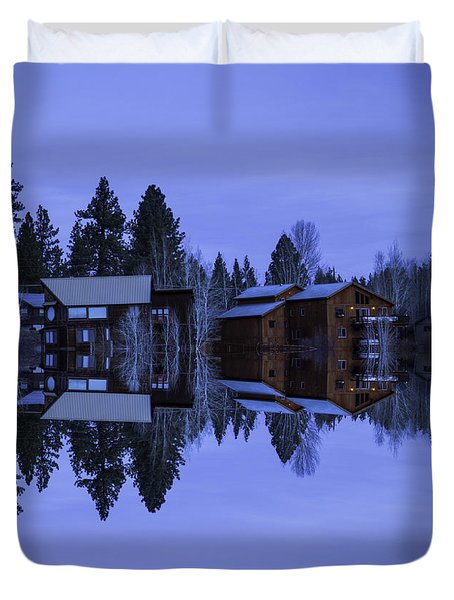 Mirror Reflection Duvet Cover by Nancy Marie Ricketts