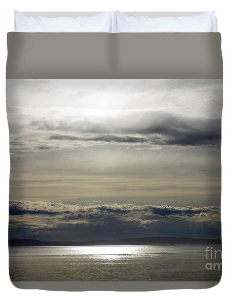 Mirror Sunset Landscape Duvet Cover