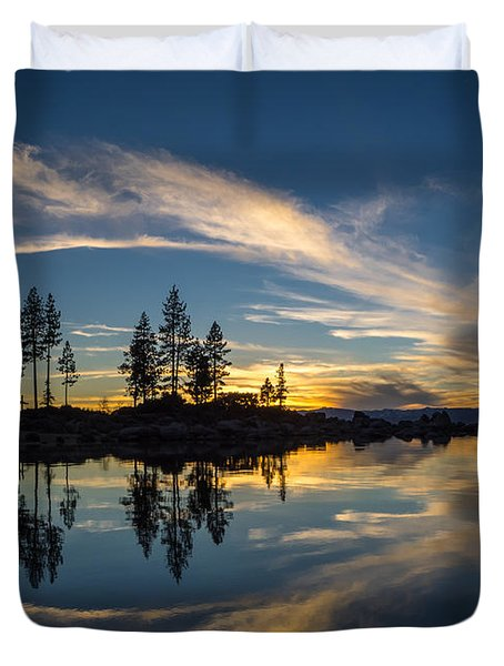 Mirror Sunset Duvet Cover