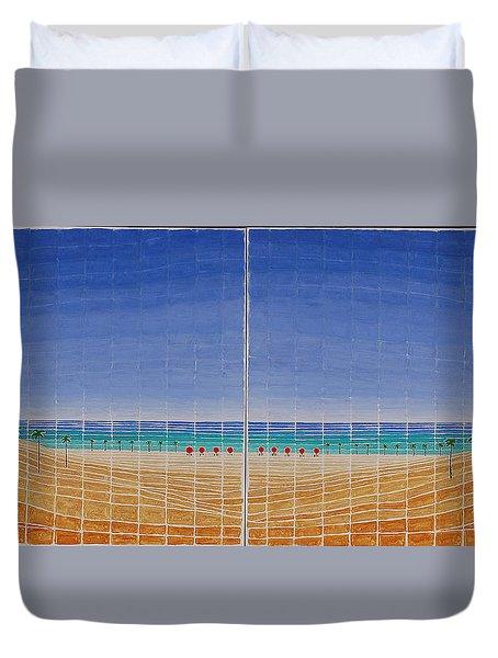 Mirror Twin Beaches Duvet Cover