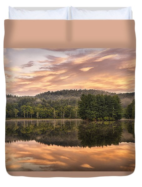 Bass Lake Sunrise - Moses Cone Blue Ridge Parkway Duvet Cover