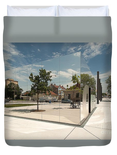 Mirrored Reality Duvet Cover