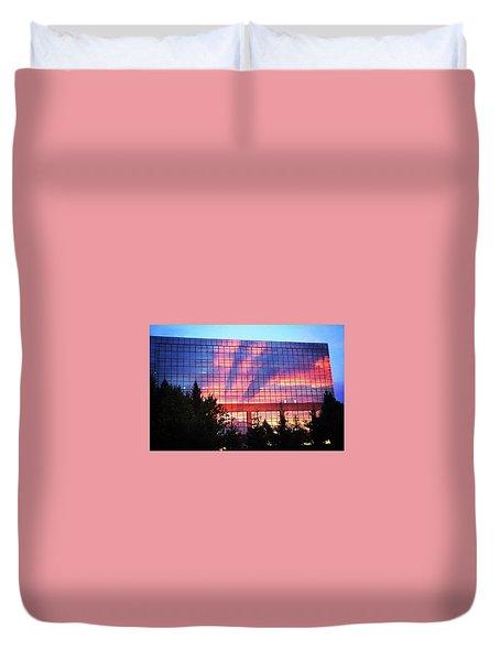 Mirrored Sky Duvet Cover