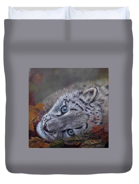 Mirucha In Fall Duvet Cover by Ceci Watson
