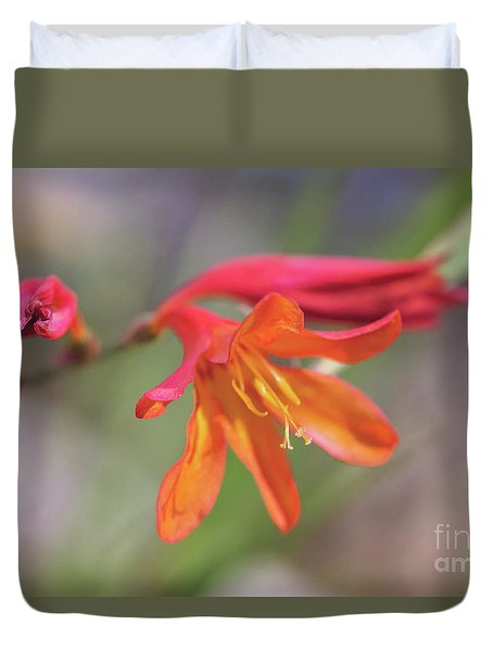 Duvet Cover featuring the photograph Misplaced Beauty by Linda Lees